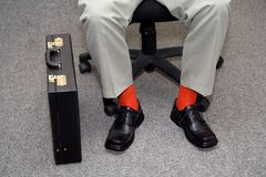 Informal businessman. Businessman with striking individuality - concept for new, unconventional business stock images
