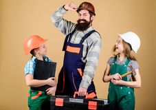 Informal education. Fathers day. Sisters help father builder. Home renovation. Create room you really want live. Follow. Father. Dream team. Father builder and stock images