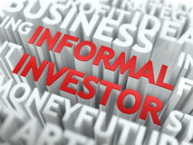Informal Investor - Red Wordcloud Concept. Royalty Free Stock Image