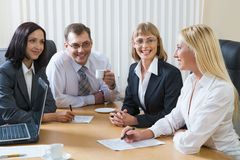 Informal meeting royalty free stock photos