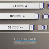 Informação do transporte do frete Foto de Stock