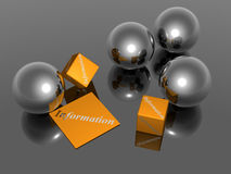 Informação - Fundo - 3D Foto de Stock