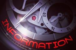 Informação no mecanismo do relógio dos homens 3d Imagem de Stock Royalty Free