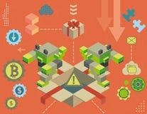 Informatic virus inside gift box Royalty Free Stock Photography