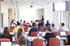 Informaticaworkshop bij universiteit Royalty-vrije Stock Fotografie