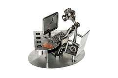 Informatician Iron toy  Stock Images