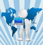 informaticien 3d Photographie stock libre de droits