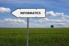 INFORMATICS - изображение при слова связанные с ТЕХНИКОЙ СВЯЗИ темы, слово, изображение, иллюстрация Стоковая Фотография
