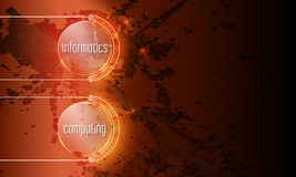 Informatics, computing. Abstract background with the words informatics, computing Stock Image