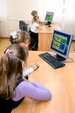 Informatics lesson in primary school. Gajievo, Russia - September 21, 2010: Informatics lesson in primary school Royalty Free Stock Images
