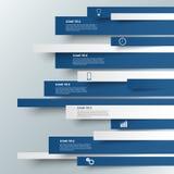 Informatie grafisch blauw gestreept modern malplaatje Stock Foto