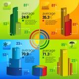 Informatie-grafisch element Stock Afbeeldingen