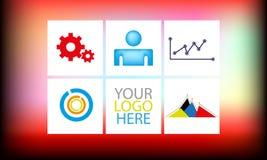Informatie grafisch grafisch thema Royalty-vrije Stock Foto's