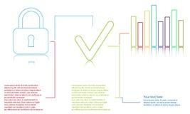 Informatie grafisch malplaatje op witte achtergrond Royalty-vrije Stock Afbeeldingen