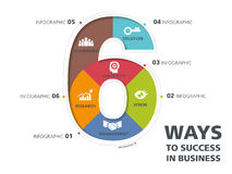 Informatie grafisch ontwerp, malplaatje, aantal, manier aan succes Royalty-vrije Stock Afbeeldingen