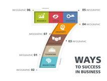 Informatie grafisch ontwerp, manier aan succes Stock Foto's