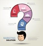 Informatie grafisch ontwerp, oplossing, zaken Stock Fotografie