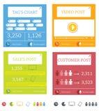 Informatie-grafische elementen Stock Fotografie