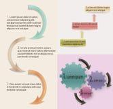 Informatie grafische elementen Stock Afbeelding