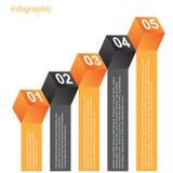 Informatie-grafische ontwerpmalplaatjes in de vorm van een 3D doos Royalty-vrije Stock Foto