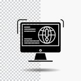 informatie, inhoud, ontwikkeling, website, het Pictogram van Webglyph over Transparante Achtergrond Zwart pictogram vector illustratie
