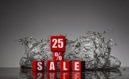 Informatie over de korting aan 25% Stock Foto's