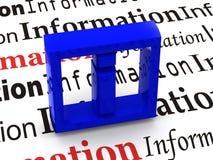 Informatie. Symbool royalty-vrije illustratie