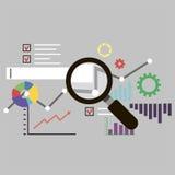 Informatieanalyse Stock Afbeelding