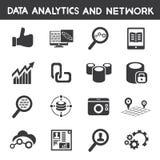 Informatiebeheer, gegevens analitische pictogrammen royalty-vrije illustratie