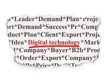 Informatieconcept: Digitale Technologie op papier Stock Foto's
