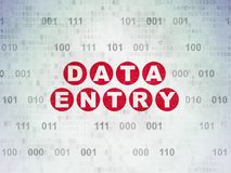 Informatieconcept: Invoer van gegevens op Digitale Gegevensdocument achtergrond Stock Afbeelding
