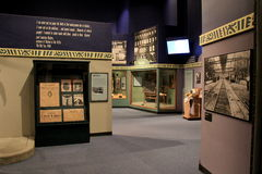 Informatief tentoongesteld voorwerp op Harlem in de jaren '20, het Museum van de Staat van New York, Albany, New York, 2015 Stock Foto's