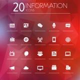 Informatiepictogrammen op vage achtergrond Royalty-vrije Stock Afbeelding