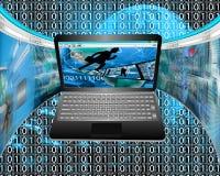 Informatiestromen Stock Foto