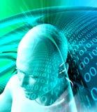 Informatietechnologie abstracte achtergrond Stock Afbeeldingen