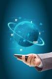 Informatietechnologie bedrijfsconcept, het procesdiagram van het Netwerk Royalty-vrije Stock Foto