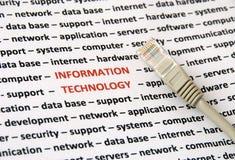 Informatietechnologie concept Stock Afbeelding