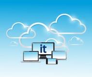 informatietechnologie elektronisch netwerkconcept Stock Foto's