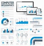 Informatietechnologie statistieken infographic elem Royalty-vrije Stock Afbeeldingen