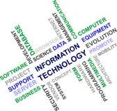 Informatietechnologie - woordwolk Stock Afbeelding