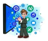 Informatietechnologie in zaken stock illustratie