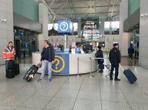 Informatieteller bij de Internationale Luchthaven van Seoel Stock Afbeelding