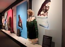 Informatieve vertoningen en tentoongestelde voorwerpen met historische betekenis, Nationaal Museum van Dans, Saratoga, New York,  royalty-vrije stock fotografie