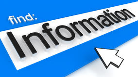 Information. Internet browser with information searching Royalty Free Stock Images