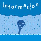 Information. A person suffering from an excess of information Stock Images