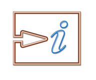 Information. Sign stock illustration