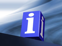 Information. The i as a symbol for Information Stock Photos