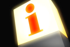 Information. A sign with the symbol for information Royalty Free Stock Photos