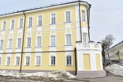 Street May 1 until 1925 — Upper Embankment — one of the Central streets of Kostroma. Information about the address ` Kostroma, Pyatnitskaya street, 3 Royalty Free Stock Photography