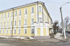 Street May 1 until 1925 — Upper Embankment — one of the Central streets of Kostroma. Information about the address ` Kostroma, Pyatnitskaya street, 3 Royalty Free Stock Image